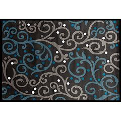 World Rug Gallery Alpine Modern Scroll Rug