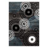 World Rug Gallery Alpine Contemporary Circles Rug
