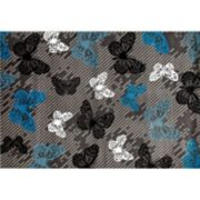 World Rug Gallery Alpine Modern Butterfly Rug