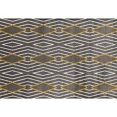 World Rug Gallery Alpine Contemporary Diamond Stripe Rug