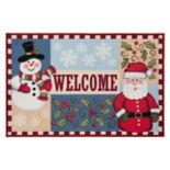 "Natco Holiday ""Welcome"" Christmas Rug - 20"" x 30"""