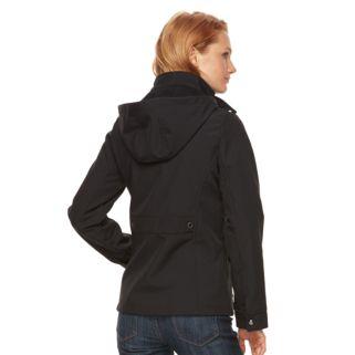 Women's Weathercast Hooded Soft Shell Rain Jacket