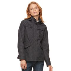 Women's Weathercast Hooded Soft Shell Rain Jacket