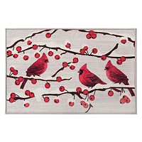 Natco Holiday Cardinal Winter Berries Rug - 20