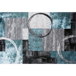 World Rug Gallery Toscana Contemporary Abstract Circle Rug