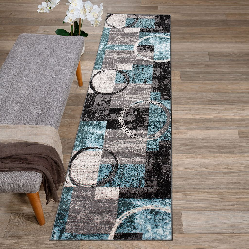 World Rug Gallery Toscana Contemporary Abstract Circle Rug