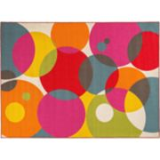 World Rug Gallery Avora Colorful Circles Rug