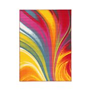 World Rug Gallery Avora Colorful Waves Rug