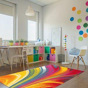 World Rug Gallery Avora Colorful Waves Rug