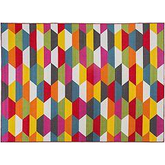 World Rug Gallery Avora Colorful Geometric Rug