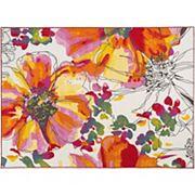 World Rug Gallery Avora Modern Colorful Floral Rug