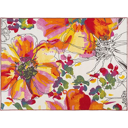 World Rug Gallery Avora Modern Colorful Floral Rug