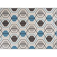 World Rug Gallery Avora Geometric Honeycomb Rug