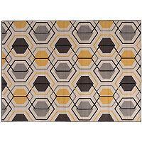 World Rug Gallery Avora Geometric Honeycomb Rug