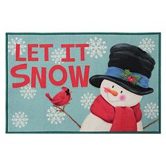 Natco Holiday Snowman 'Let it Snow' Rug - 20' x 30'