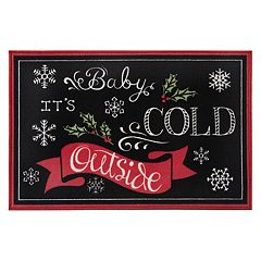 Natco Holiday 'Baby It's Cold Outside' Chalkboard Rug - 20' x 30'