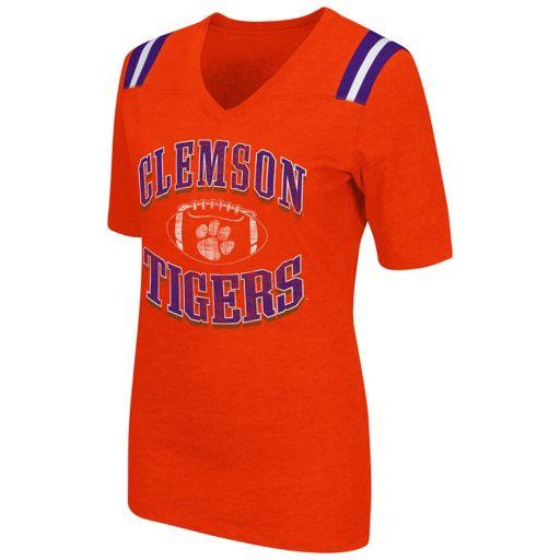 Women's Campus Heritage Clemson Tigers Distressed Artistic Tee