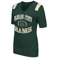 Women's Campus Heritage Colorado State Rams Distressed Artistic Tee