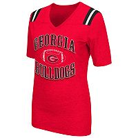 Women's Campus Heritage Georgia Bulldogs Distressed Artistic Tee