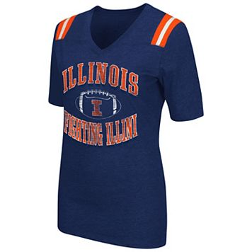 Women's Campus Heritage Illinois Fighting Illini Distressed Artistic Tee