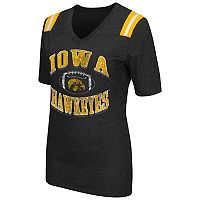 Women's Campus Heritage Iowa Hawkeyes Distressed Artistic Tee