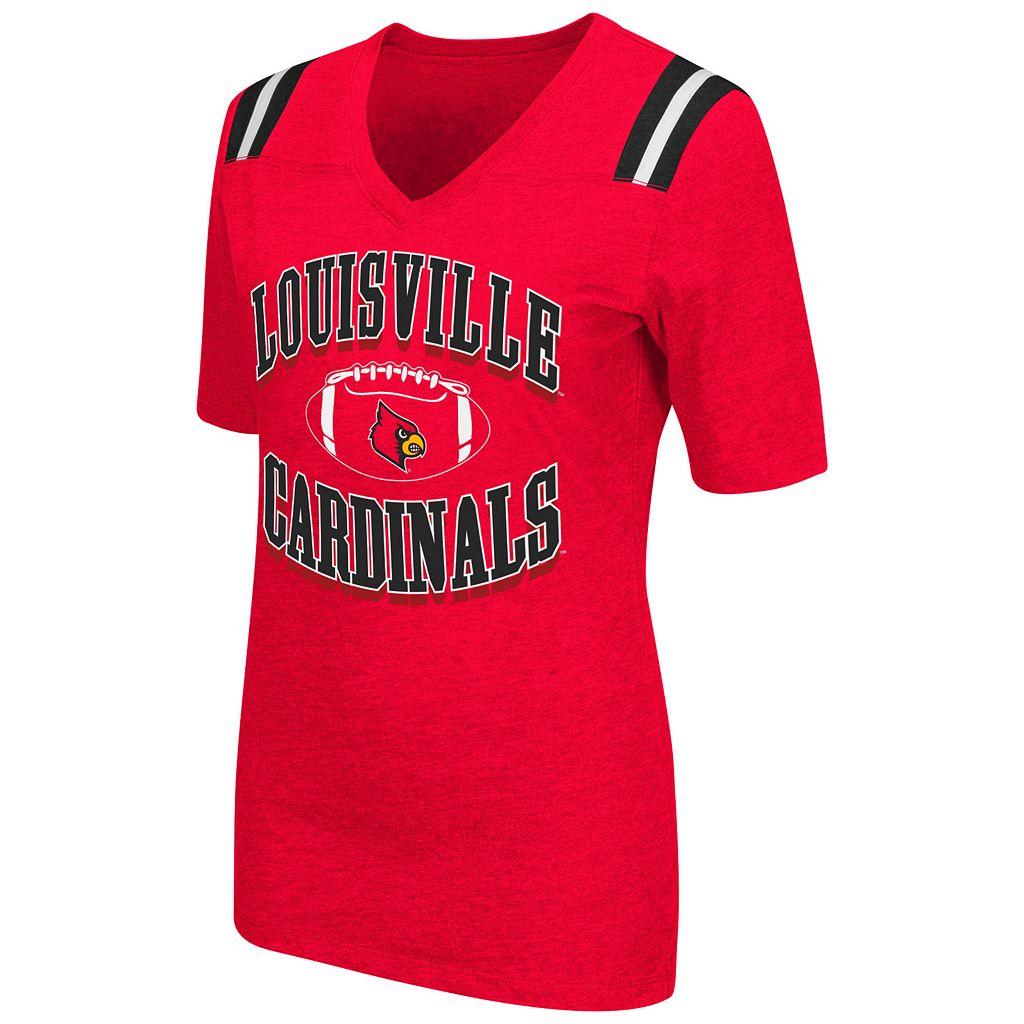Women's Campus Heritage Louisville Cardinals Distressed Artistic Tee