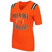Women's Campus Heritage Miami Hurricanes Distressed Artistic Tee