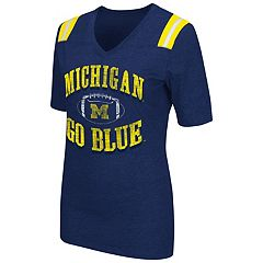 Women's Campus Heritage Michigan Wolverines Distressed Artistic Tee