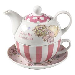 Precious Moments 'You're My Inspiration' Teapot & Cup 4-piece Set