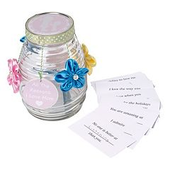 Precious Moments 'Reasons I Love Mom' Memory Jar & Cards 50-piece Set