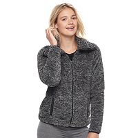 Juniors' SO® Sherpa Zip-Up Jacket