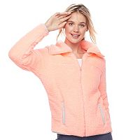Juniors' SO® Sherpa Zip-Up Jacket