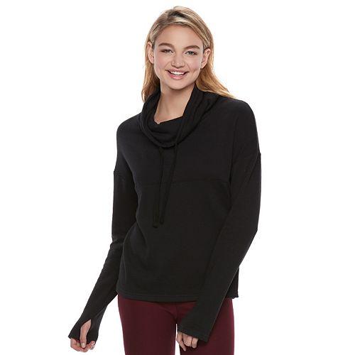 Juniors' SO® Perfectly Soft Cowlneck Sweatshirt