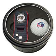 Team Golf Columbus Blue Jackets Switchfix Divot Tool & Golf Ball Set