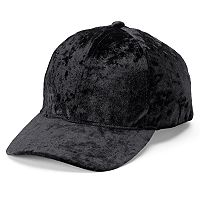 Women's Mudd® Crushed Velvet Baseball Cap