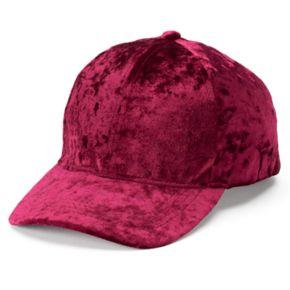 Women's Mudd® Crushed Velvet Baseball Cap