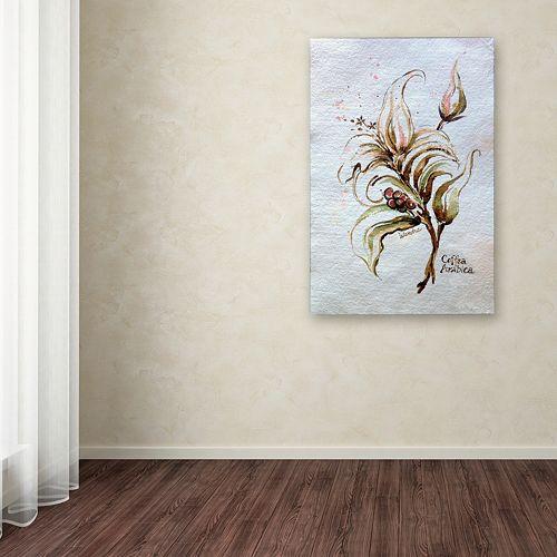 """Trademark Fine Art """"Coffea Arabica"""" Canvas Wall Art"""