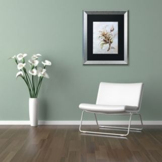 "Trademark Fine Art ""Coffea Arabica"" Silver Finish Framed Wall Art"