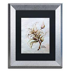 Trademark Fine Art 'Coffea Arabica' Silver Finish Framed Wall Art