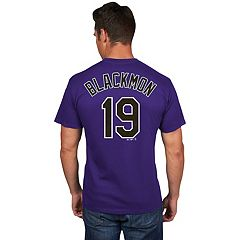 Men's Majestic Colorado Rockies Charlie Blackmon Name and Number Tee