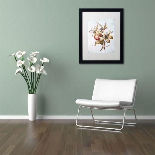 Trademark Fine Art Coffee Flower & Bean Black Framed Wall Art