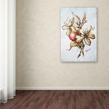 Trademark Fine Art Coffee Flower & Bean Canvas Wall Art