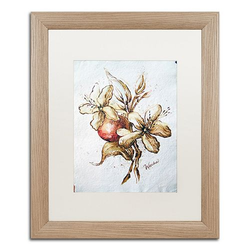 Trademark Fine Art Coffee Flower & Bean Distressed Framed Wall Art
