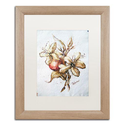 Trademark Fine Art Coffee Flower & Bean Distressed Framed Wall Art