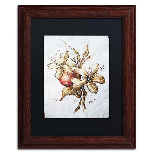 Trademark Fine Art Coffee Flower & Bean Framed Wall Art