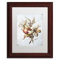 Trademark Fine Art Coffee Flower & Bean Framed Wall Art