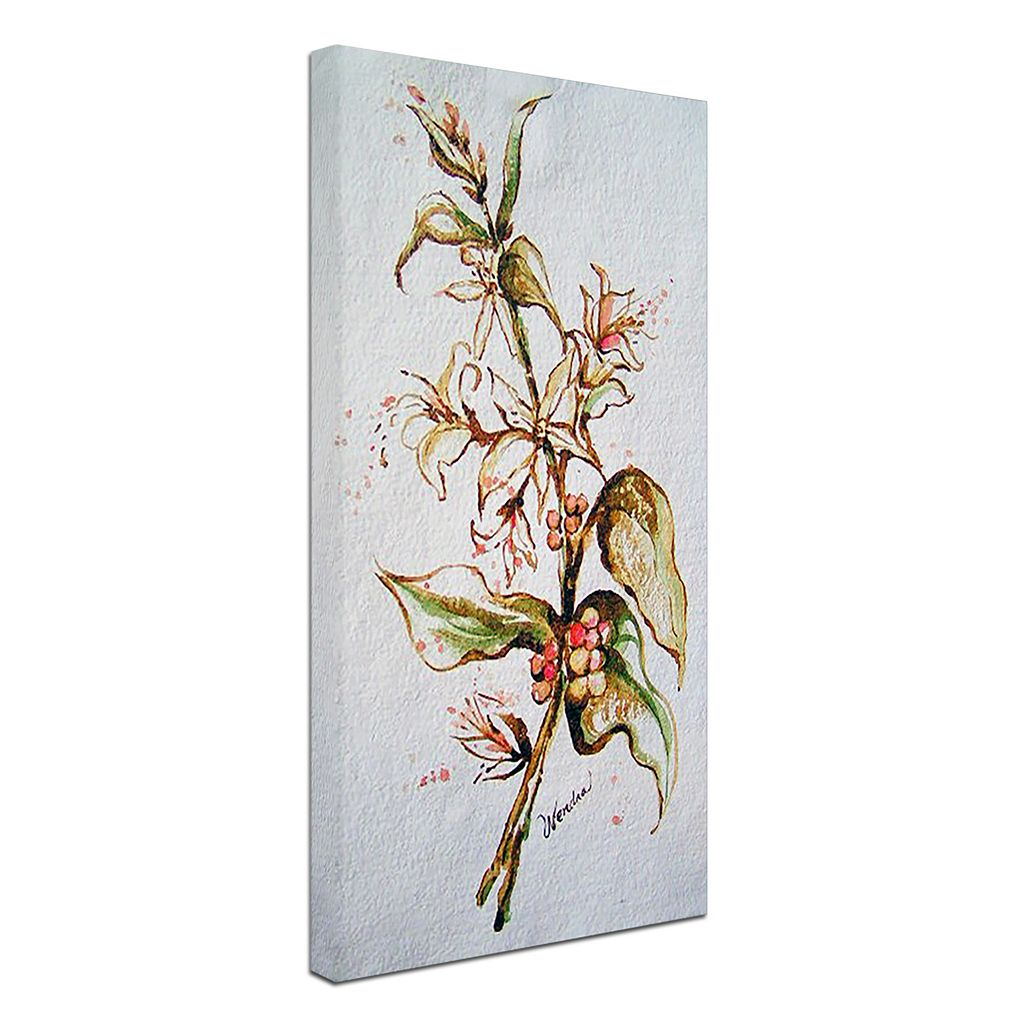 Trademark Fine Art Coffee Flowers Canvas Wall Art