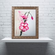 Trademark Fine Art New Bloom Ornate Framed Wall Art