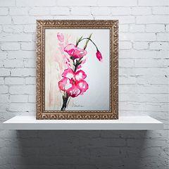Trademark Fine Art New Bloom Ornate Framed Wall Art