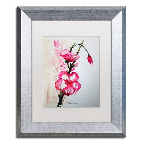 Trademark Fine Art New Bloom Silver Finish Framed Wall Art